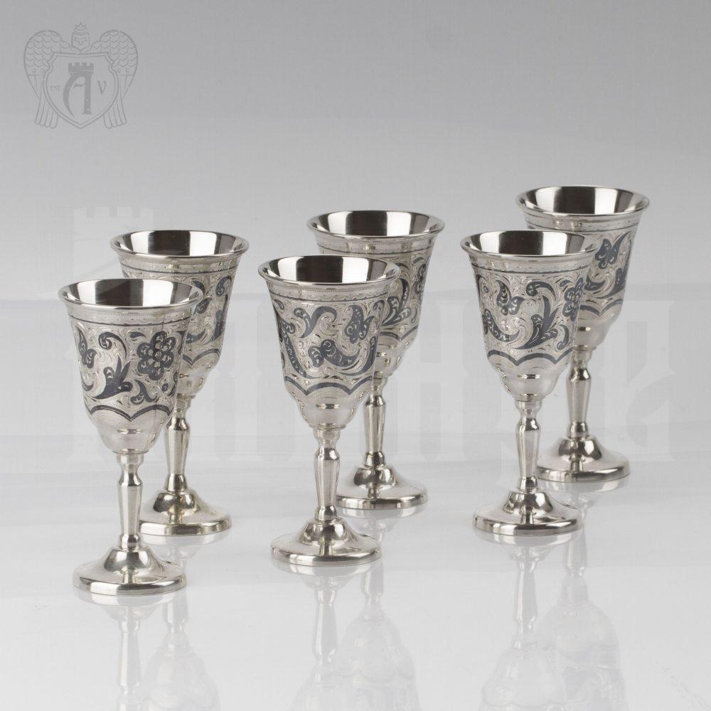 Набор серебряных рюмок «Зодиак» Апанде, 75000180