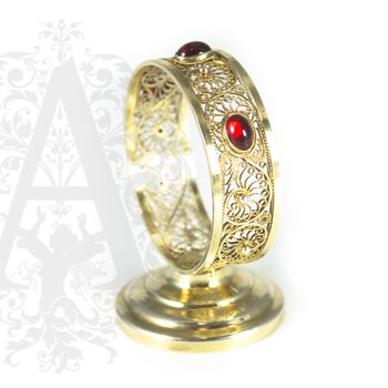 Салфетница серебряная «Апанде» филигрань
