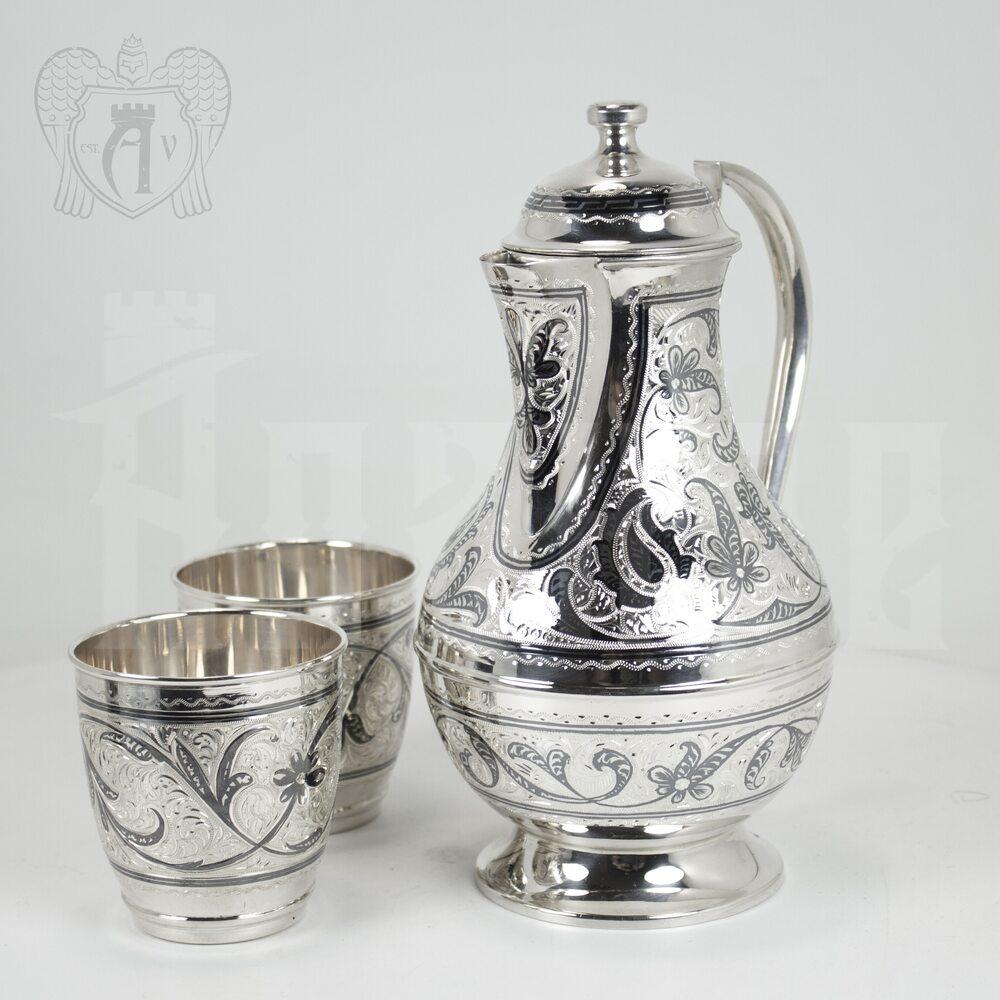 Серебряный набор для воды «Кубачинский» Апанде, 111000199