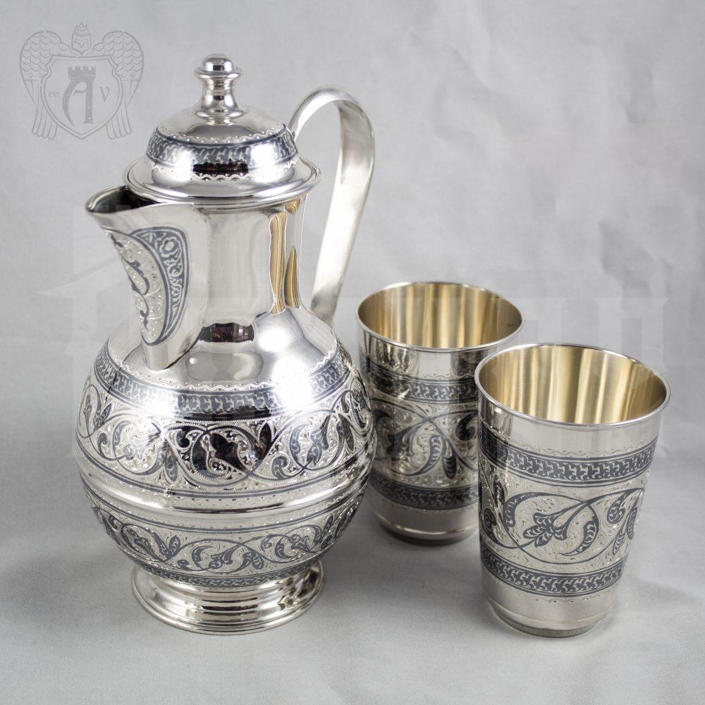Серебряный набор для воды «Родник» Апанде, 11100042