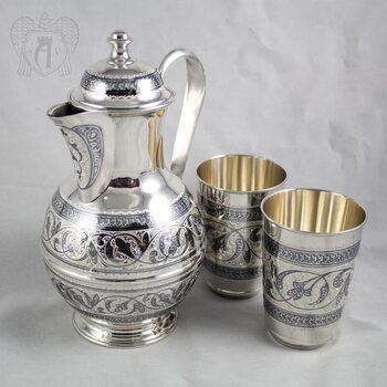 Серебряный набор для воды «Родник»