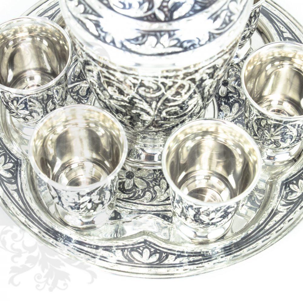 Серебряный водочный набор «Кубачи+»  Апанде, 11100092