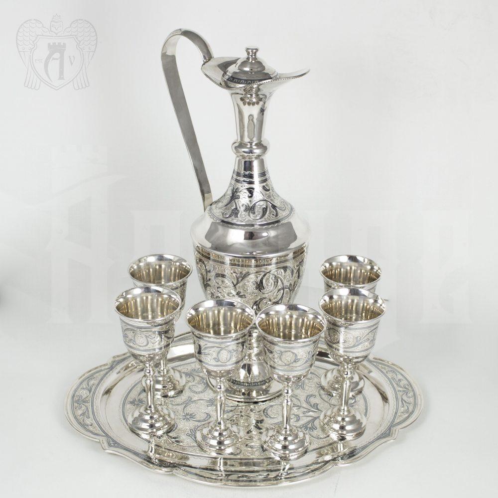 Серебряный сервиз винный «Королевский» Апанде, 111005342