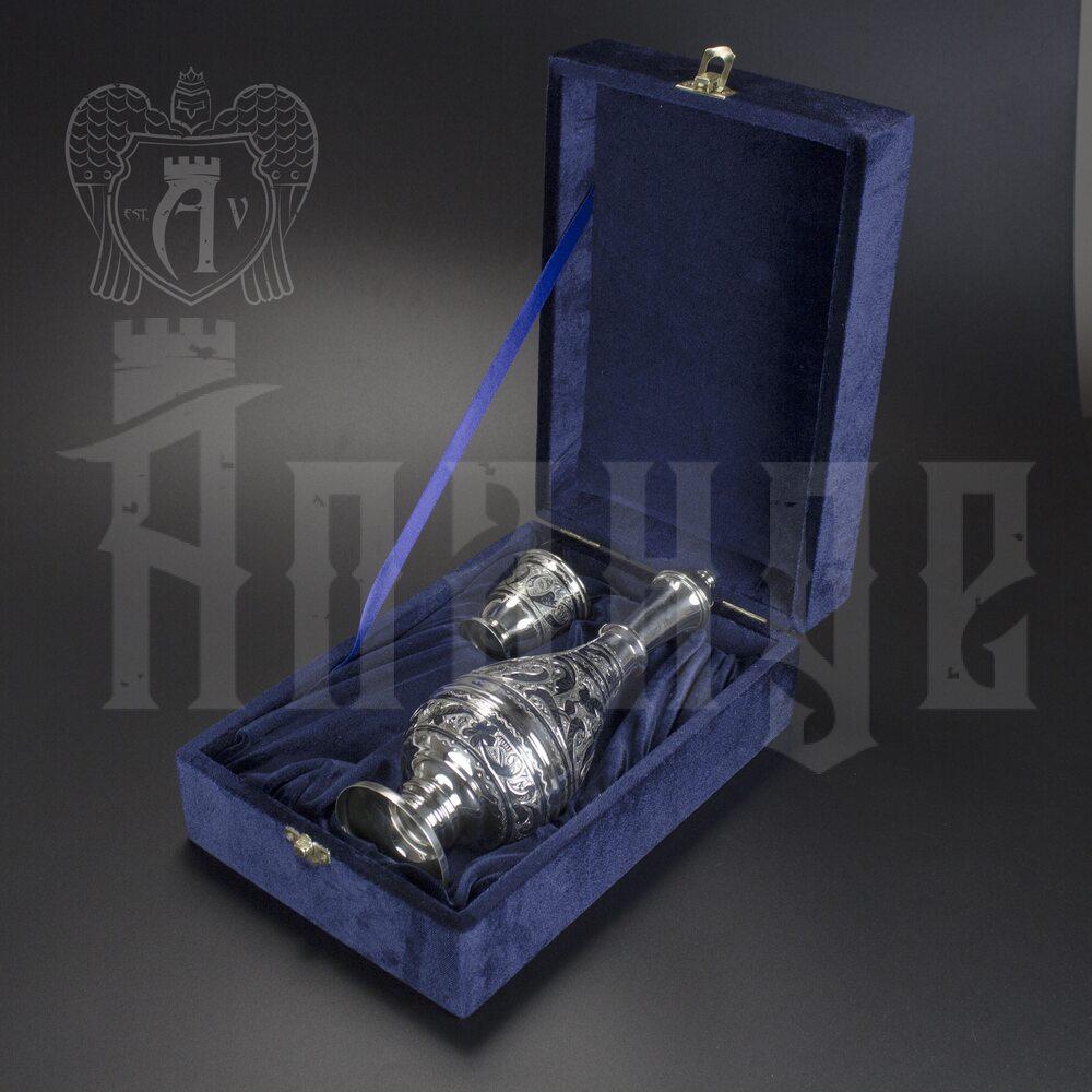 Серебряный водочный набор « Соло»  Апанде, 111005450