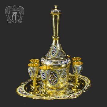 Серебряный коньячный сервиз «Царский»