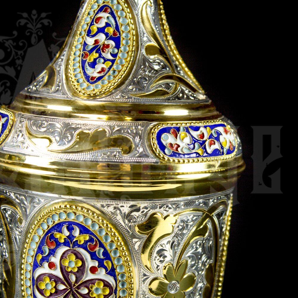 Серебряный коньячный сервиз «Царский» Апанде, 11100548