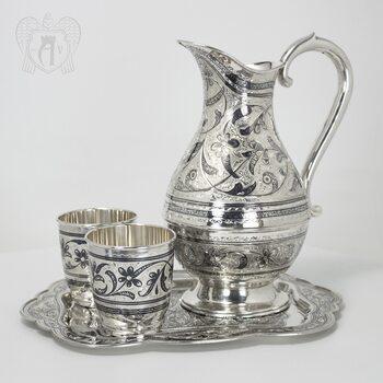 Набор для воды серебряный «Изящный век»