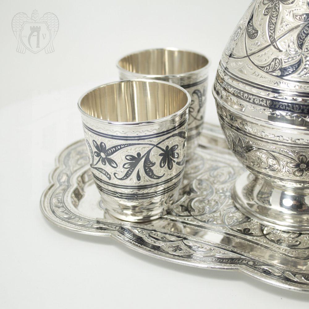 Набор для воды серебряный «Изящный век» Апанде, 11100653