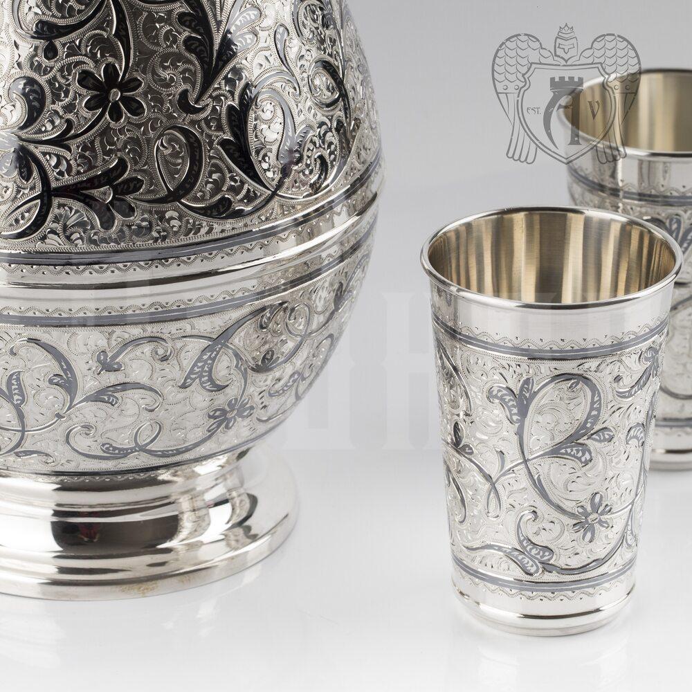 Сервиз из серебра 925 пробы для воды «Дворцовый» Апанде, 11100669