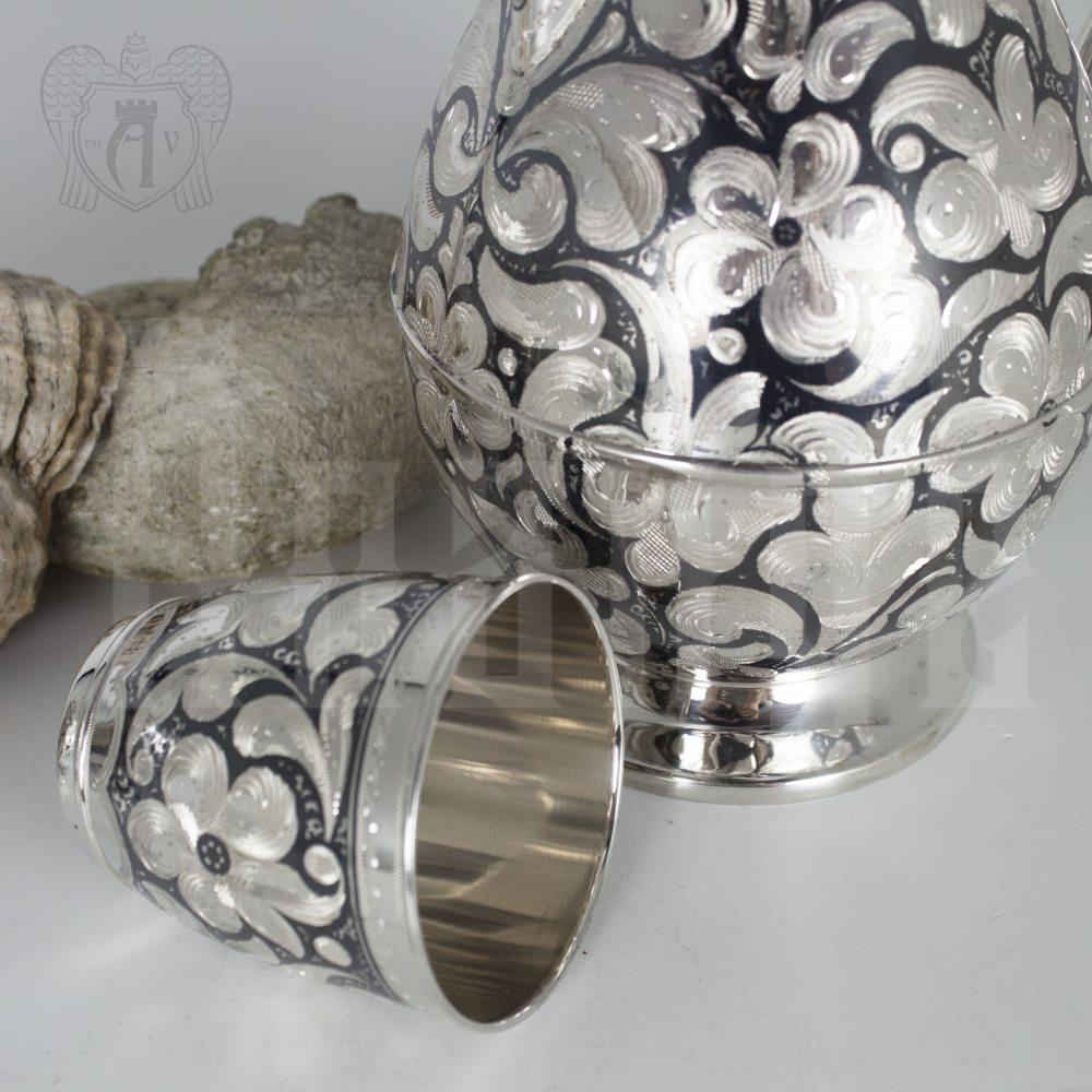 Серебряный набор для воды «Эдельвейс» Апанде, 11104216