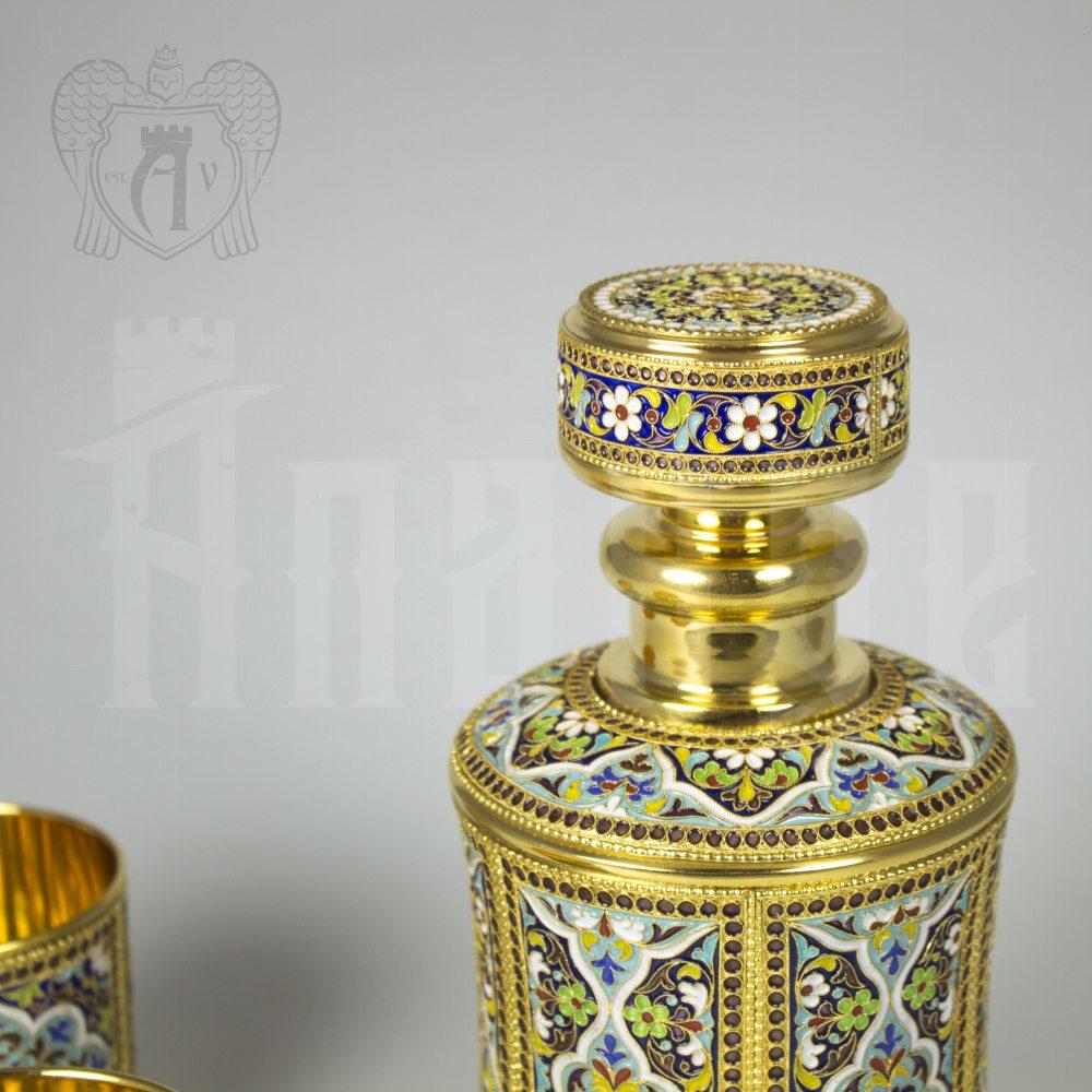 Серебряный сервиз для виски с эмалью «Ugbugan» Апанде, 111049241