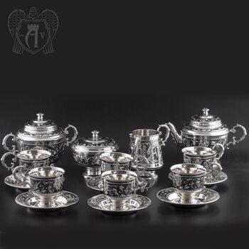 Сервиз серебряный чайный «Венеция»