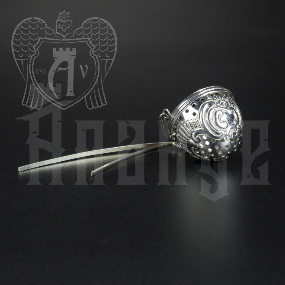 Серебряное ситечко чайное Апанде, 9001002