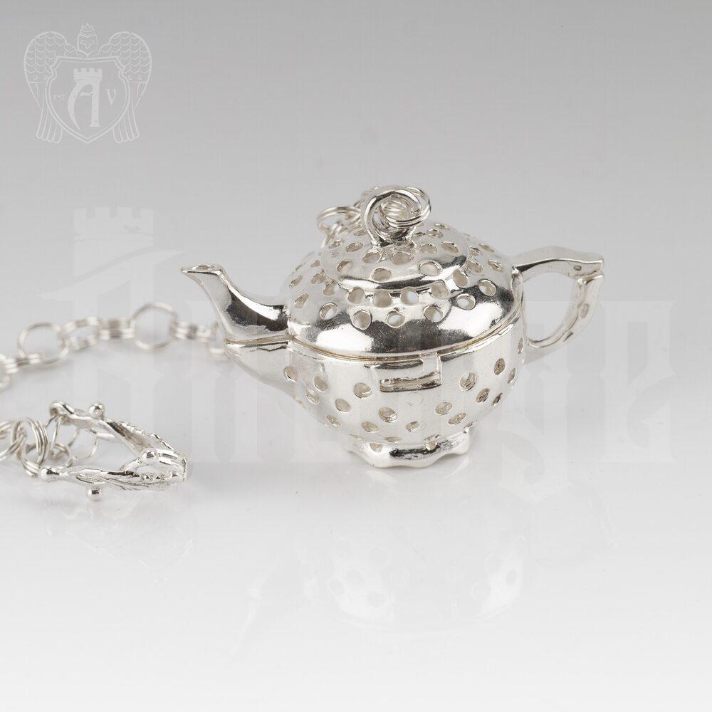 Серебряный заварочник-ионизатор «Чайник» Апанде, 9001003