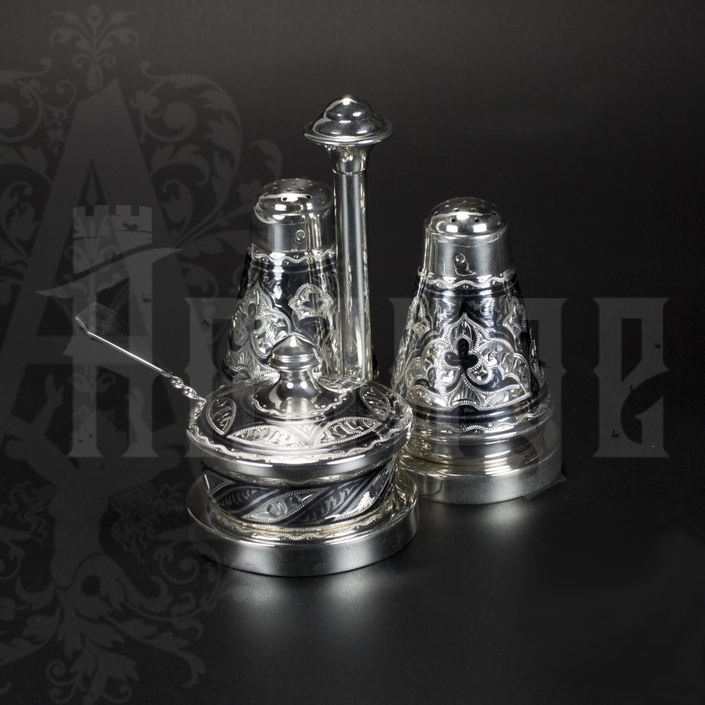 Серебряный набор для специй серия «Аллегро»  Апанде, 980001