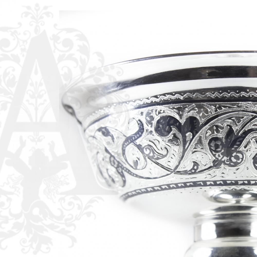 Серебряная ваза для фруктов или сладостей «Грация» Апанде, 520009