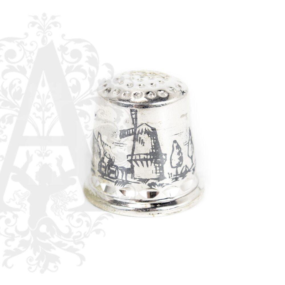Наперсток серебряный «Мельница» Апанде, 7770017