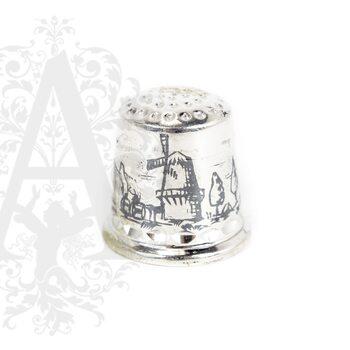 Наперсток серебряный «Мельница»
