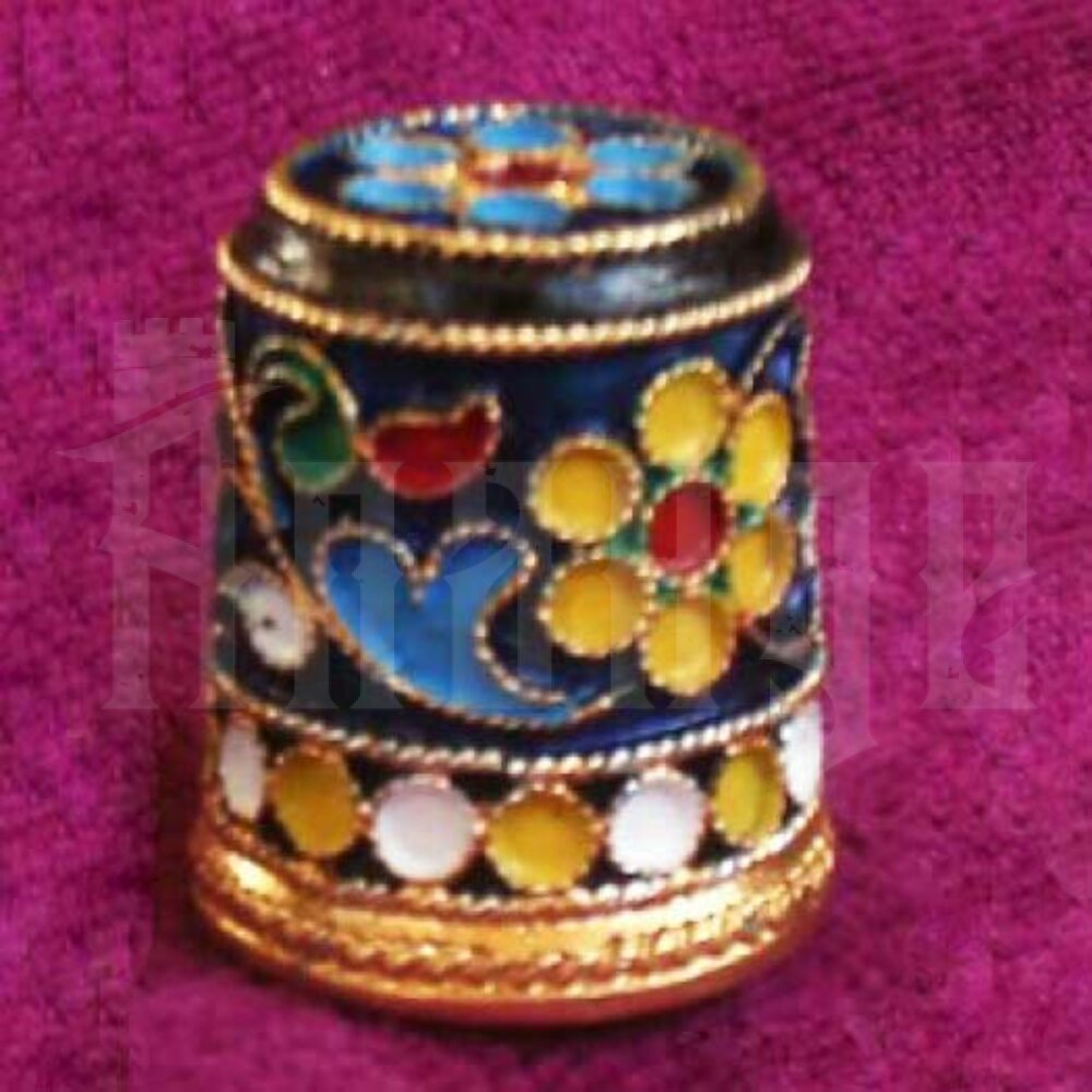 Наперсток из серебра с эмалью «Королевский» Апанде, 777002