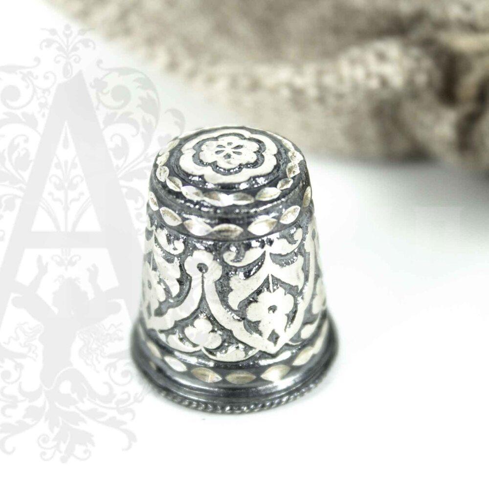 Наперсток из серебра «Башня» Апанде, 777003