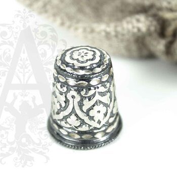 Наперсток из серебра «Башня»