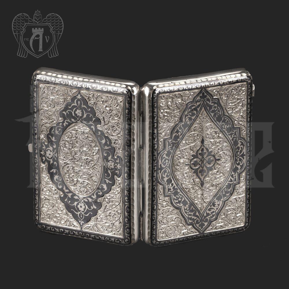 Серебряный портсигар с глубокой гравировкой «Сеньор» Апанде, 53000555