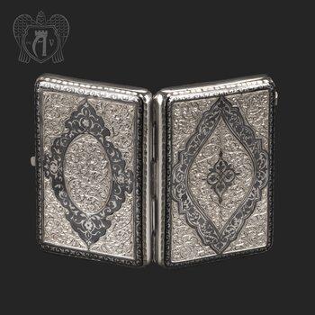 Серебряный портсигар с глубокой гравировкой «Сеньор»