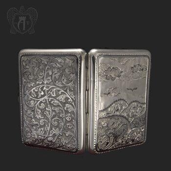 Серебряный портсигар «Зов природы»