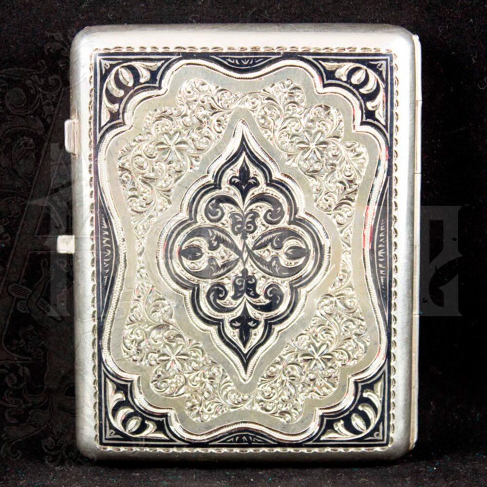 Портсигар серебряный «Кубачи» Апанде, 53000559