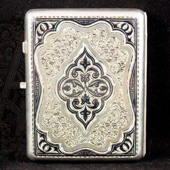 Портсигар серебряный «Кубачи»