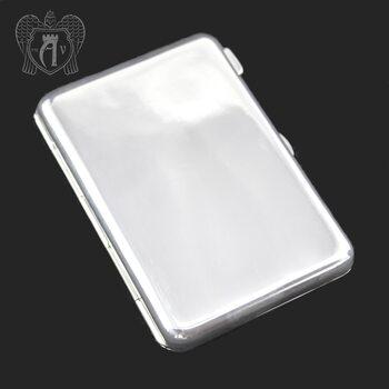 Серебряный портсигар чистый без декора «Вечное сияние»