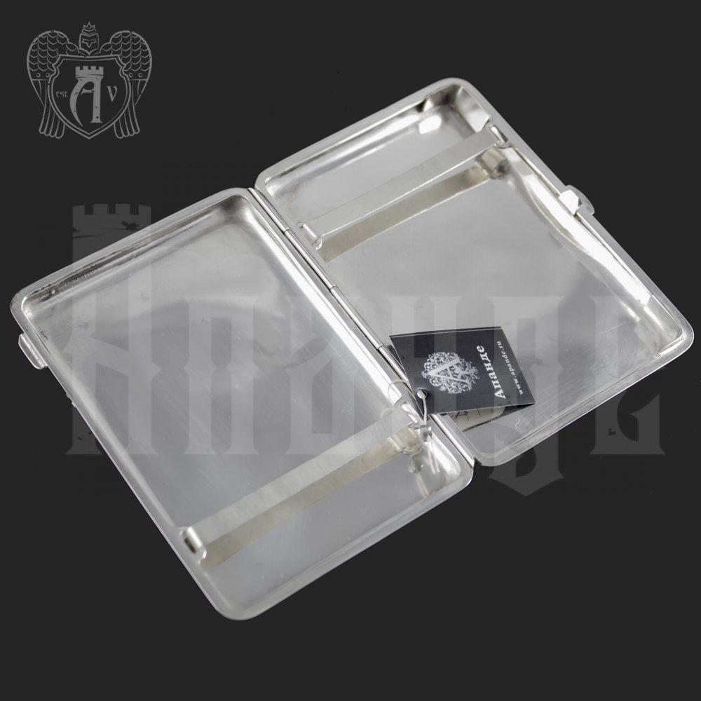 Серебряный портсигар чистый без декора «Вечное сияние» Апанде, 53000560