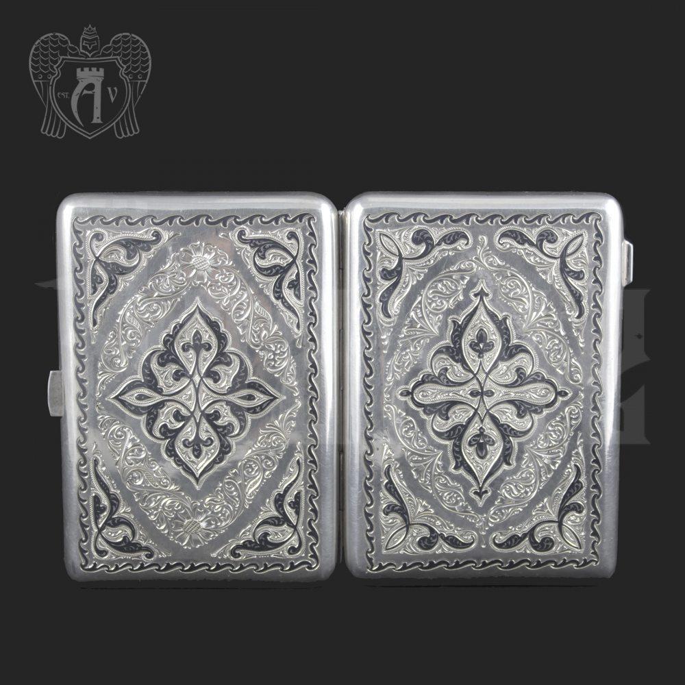 Серебряный портсигар «Созвездие» Апанде, 53000561