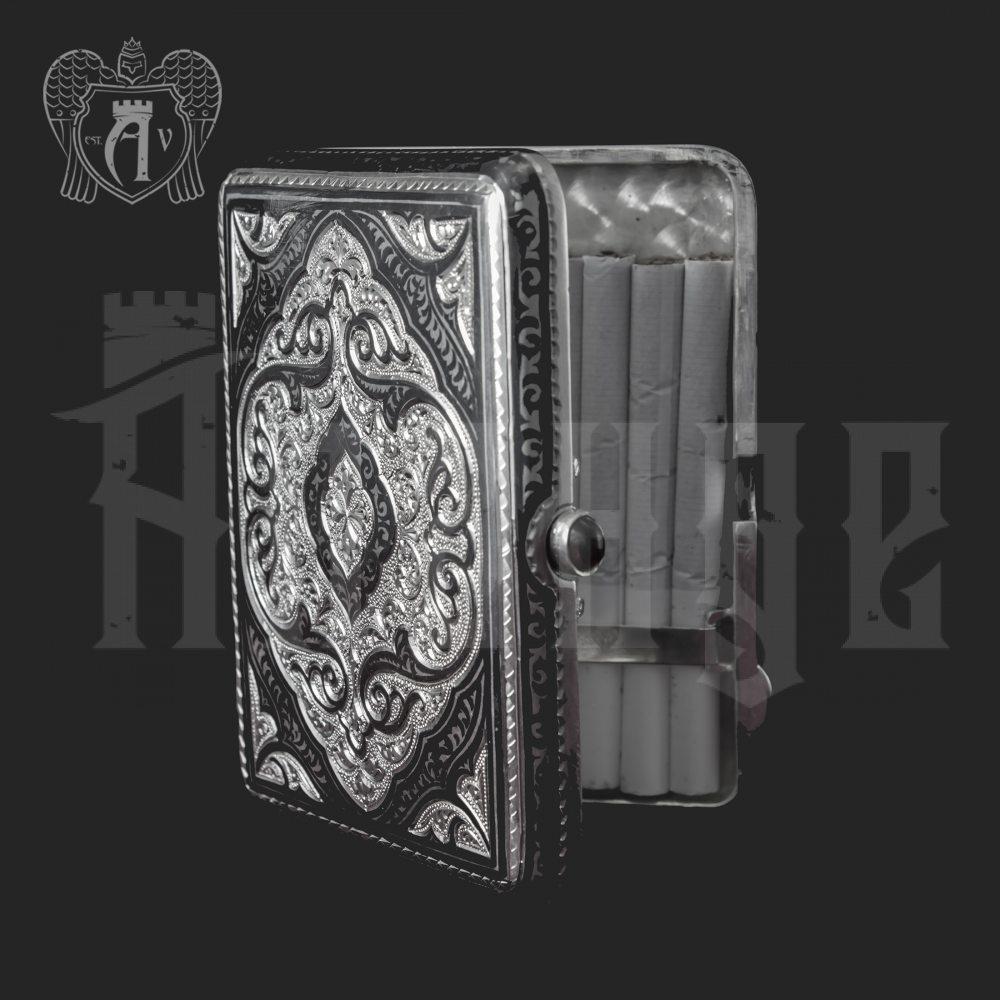 Серебряный портсигар «Величие» Апанде, 53000562