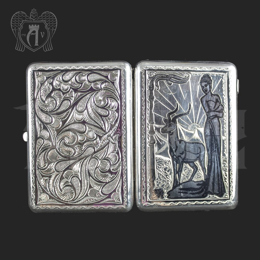 Серебряный портсигар «Ева» Апанде, 53000564