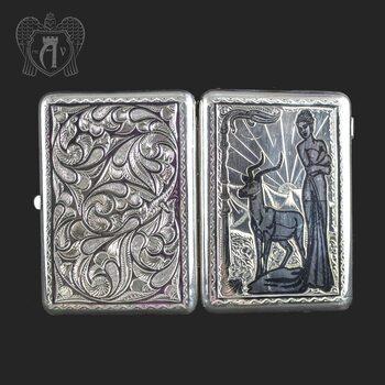 Серебряный портсигар «Ева»