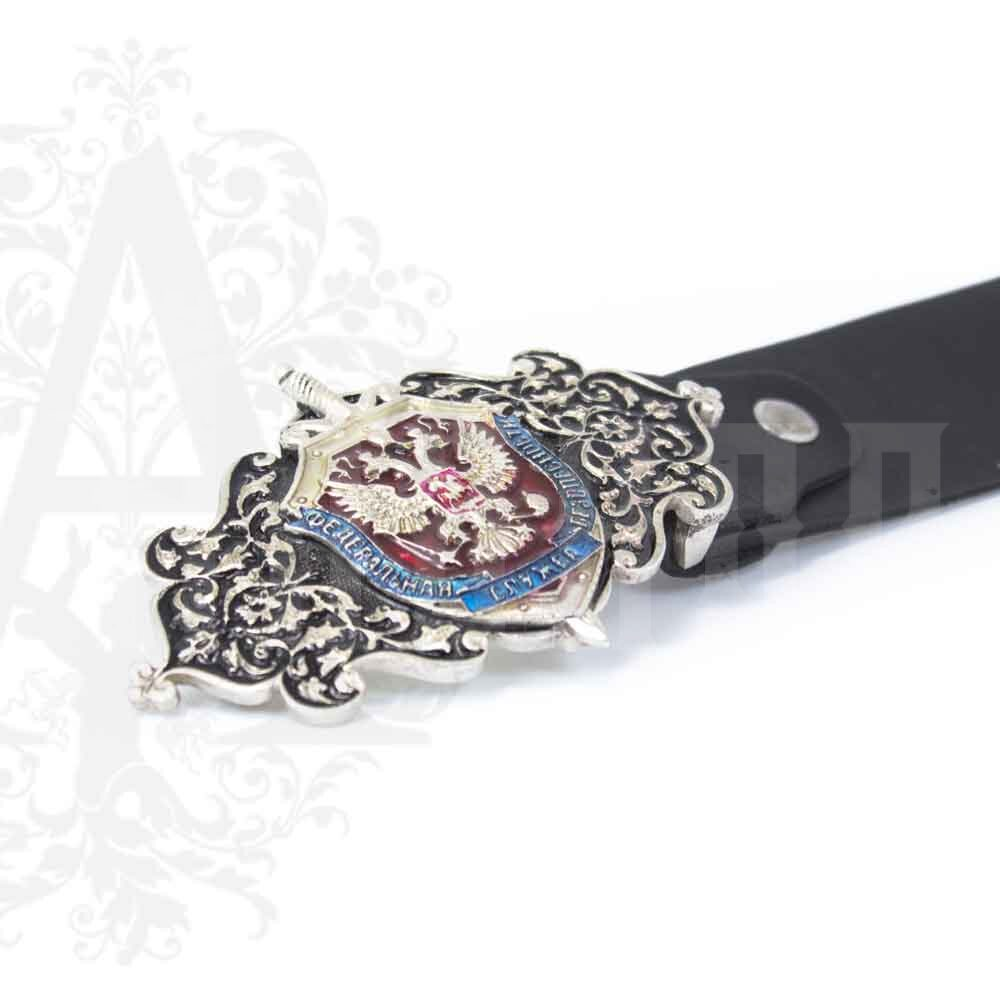 Ремень с серебряной пряжкой «ФСБ» Апанде, 88800131