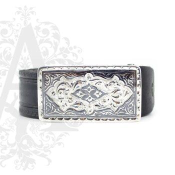 Ремень с серебряной пряжкой «Augusta»