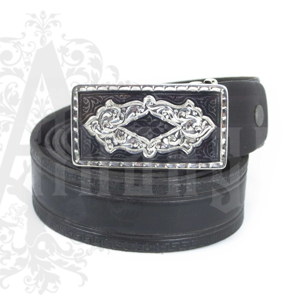 Ремень с серебряной пряжкой «Augusta» Апанде, 88800136