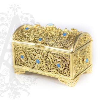 Серебряная шкатулка  «Семирамида» филигрань