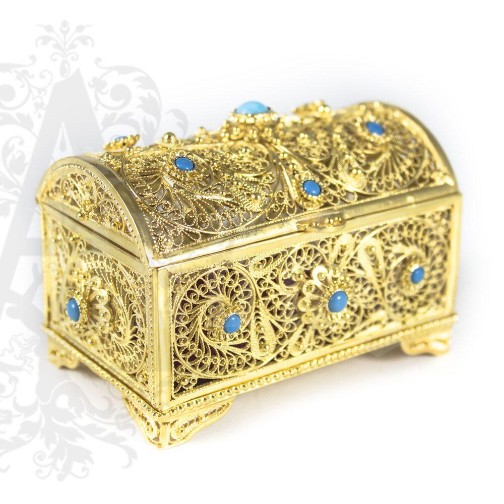 Серебряная шкатулка  «Семирамида» филигрань Апанде, 84000422