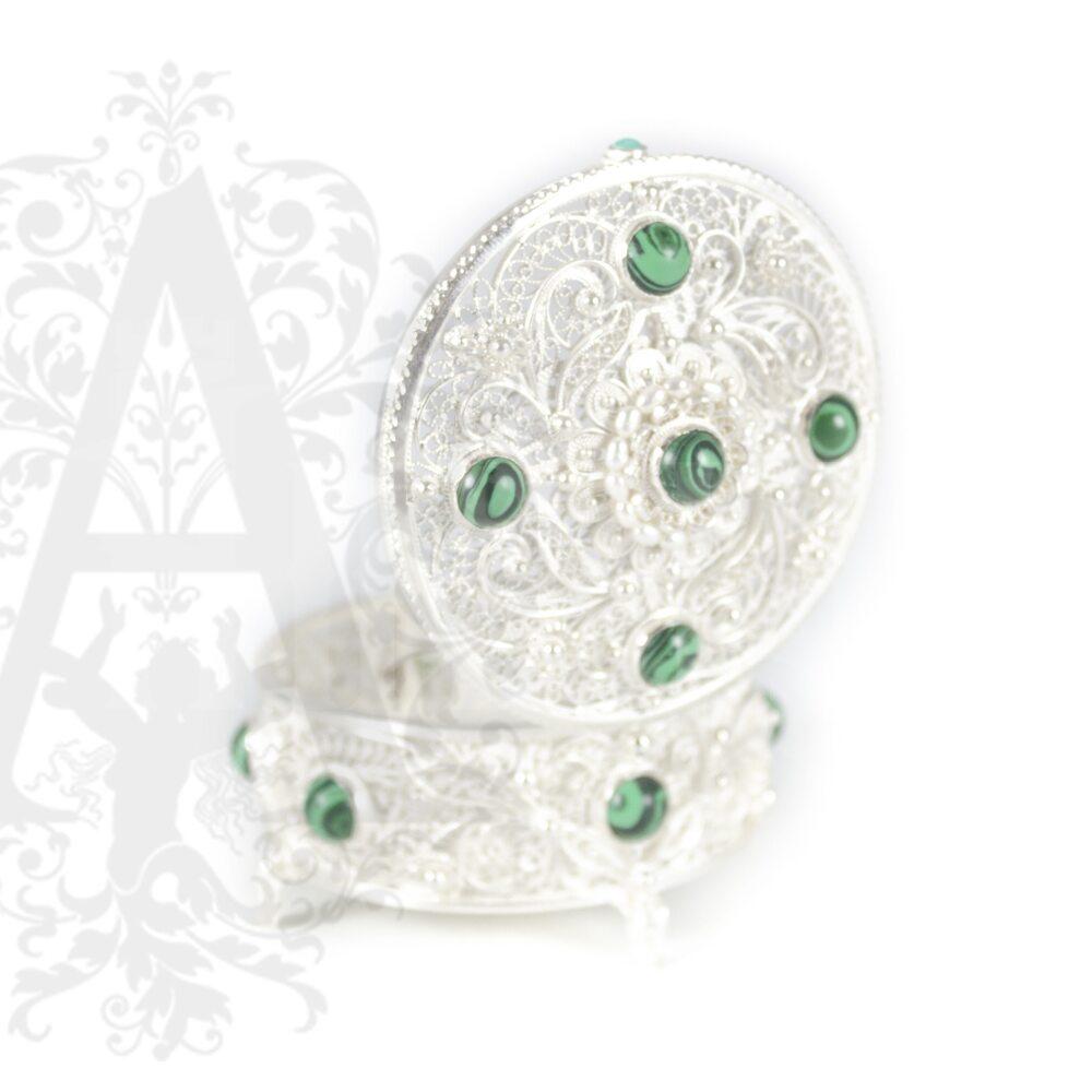 Серебряная шкатулка  «Миссис» филигрань Апанде, 84000423