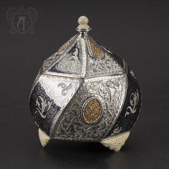 Серебряная шкатулка ручной работы «Каллисто»