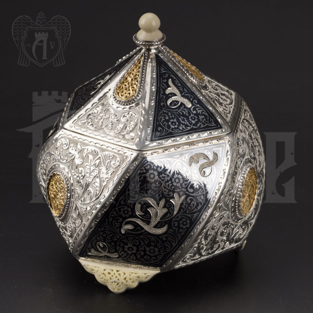 Серебряная шкатулка ручной работы «Каллисто»  Апанде, 84000424