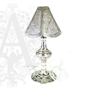 Лампа настольная из серебра