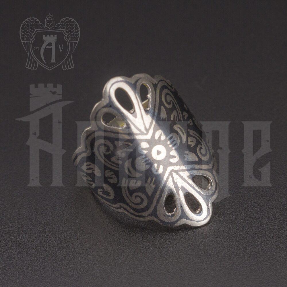 Кольцо кубачинское с чернью «Страсть» Апанде, 82010216