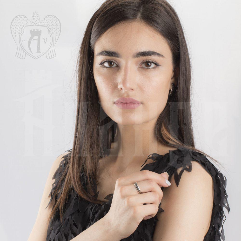 Кольцо кубачинское с чернью «Грация» Апанде, 82010217