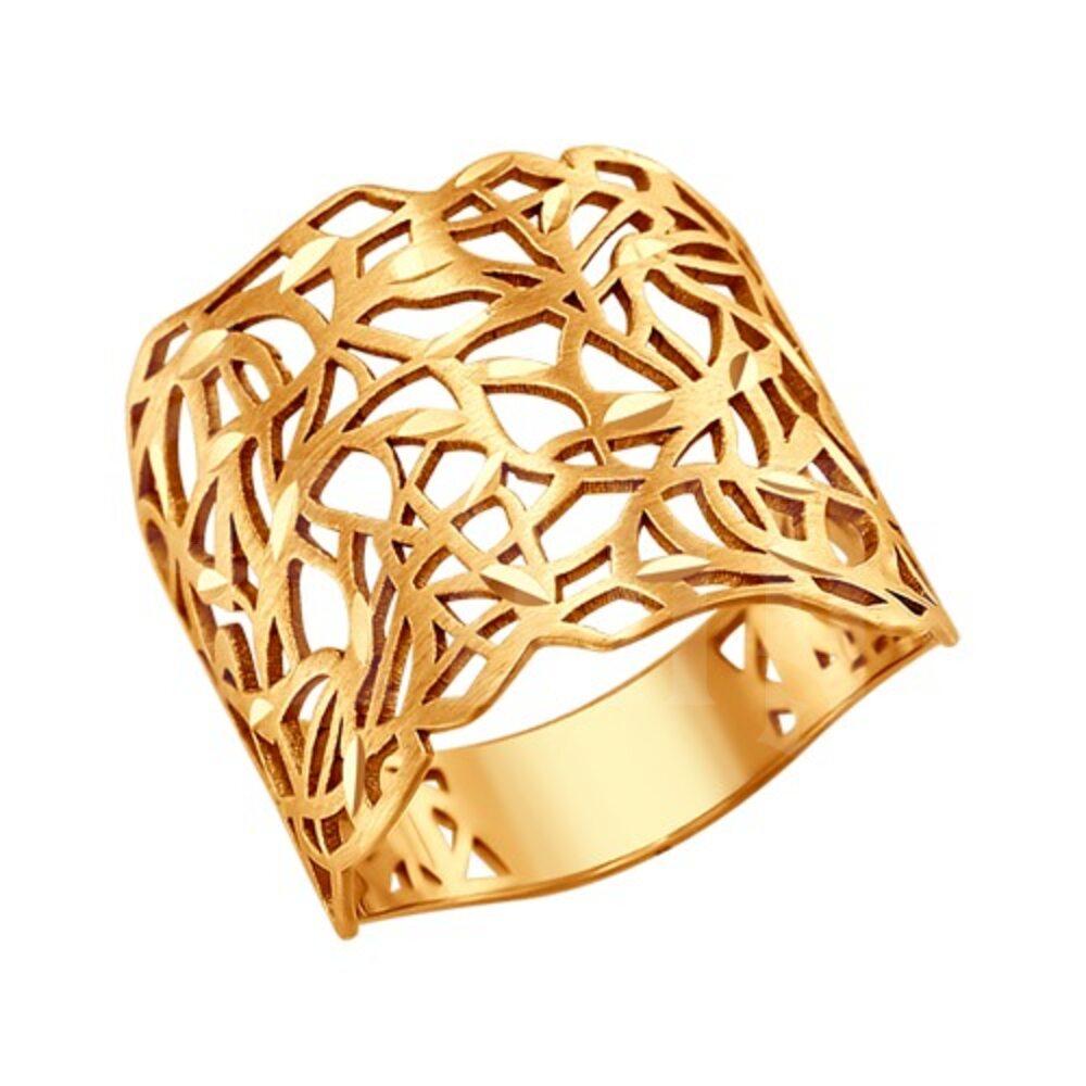 cdaabc9abd5 😉 Широкое золотое кольцо с алмазной гранью 😎 купить недорого ...