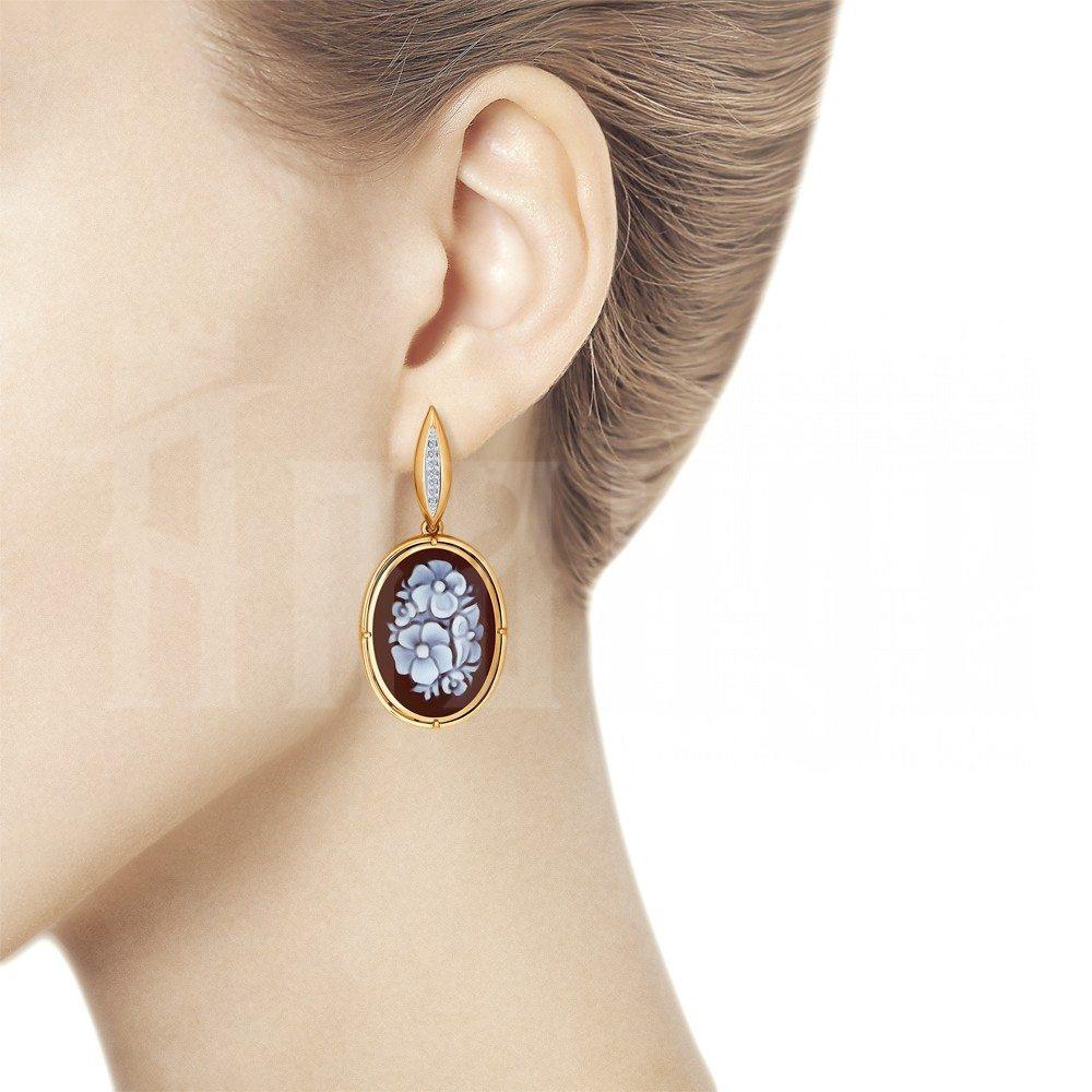 Серьги из золота с бриллиантами SOKOLOV, 6029004skl