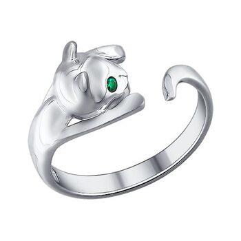 Серебряное кольцо «Котёнок»